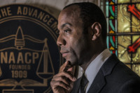 Cornell William Brooks, the new NAACP President, in Baltimore, MD.